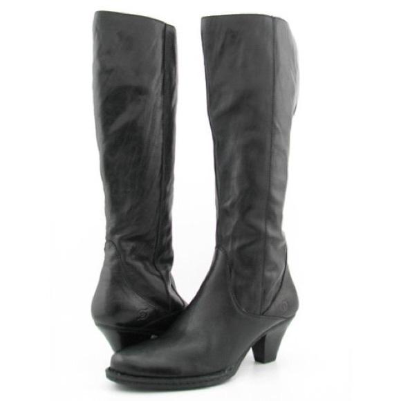 29d83f6e2bc Born Shoes - Born Navi knee high black leather riding boots