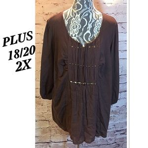 Just My Size Tops - SZ 2X JUST MY SIZE BOHO STYLE TOP PLUS