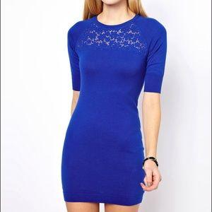 NWT Karen Millen cobalt blue dress! size 1
