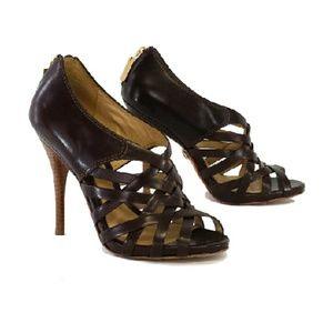 L.A.M.B.- Tammy Brown Leather Heels Sz 8