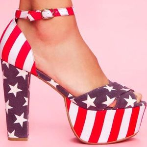 Jeffrey Campbell Shoes - Jeffery Campbell American Flag Heels