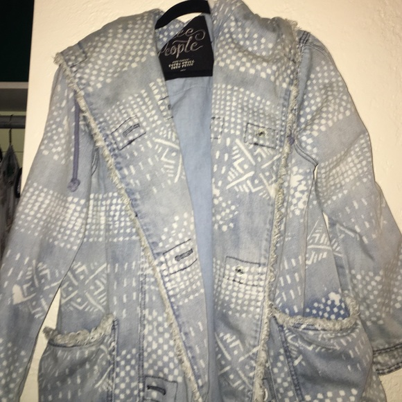 Jackets & Blazers - Free People Bleached Denim Jacket