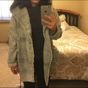 Jackets & Coats - Free People Bleached Denim Jacket