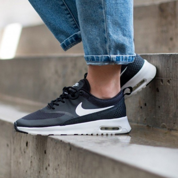 Women's Nike Air Max Thea Premium in Black/Summit White