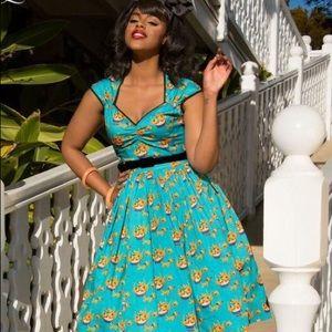 Pinup Girl Clothing Mary Blair Heidi Cat Dress