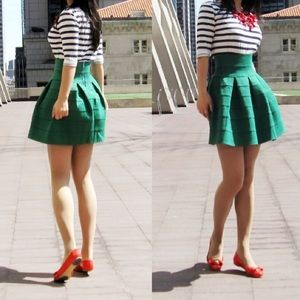 Girls From Savoy kelly green bandage skirt