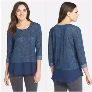 Olivia Moon Sweaters - NWOT Olivia Moon Quarter Sleeve Ruffle Nordstrom