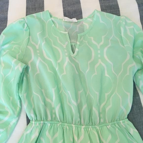 Peach Love California Dresses - Peach Love California Mint Dress - w/ pockets!!