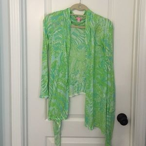 Lilly Pulitzer wrap sweater