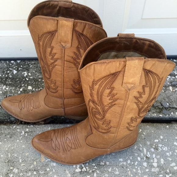 322f730a75d Coconuts Gaucho Cowboy Boots khaki size 6.5M