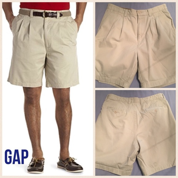 74% off Gap Other - GAP men's pleated relaxed fit khaki shorts ...