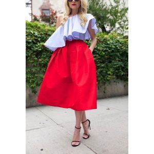Chicwish Dresses & Skirts - Red Midi Skirt