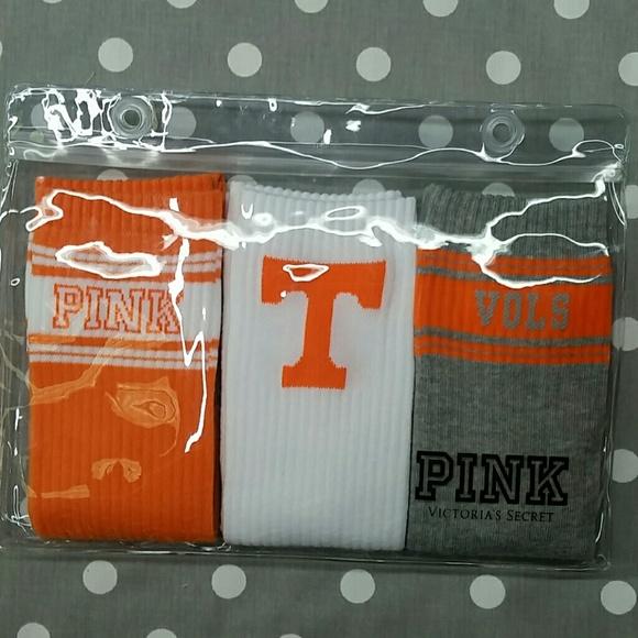 Victoria/'s Secret PINK University Of Tennessee VOLS Grey Orange Crew Sock
