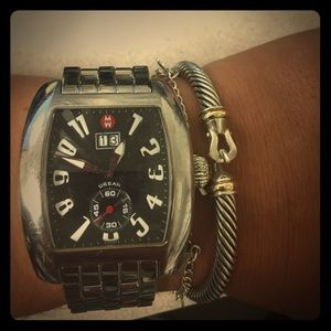 Michele Accessories - Michele watch with black face 100%authentic