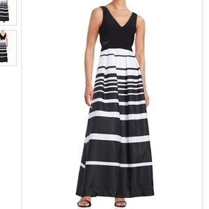 Xscape Dresses & Skirts - Gown- black and white striped sz 8