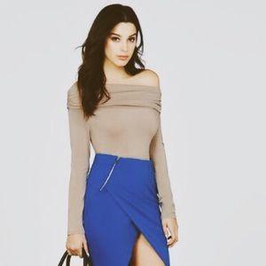 Double Zip Pencil Skirt