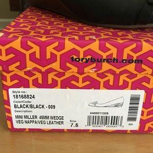 e4c051edd66c Tory Burch Shoes - Tory Burch Mini Miller Wedge Pump 45mm Sz 7.5 blk