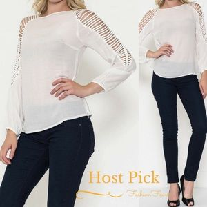 🎉HP🎉LAST 2-Med-Sleeve Cut Out Top