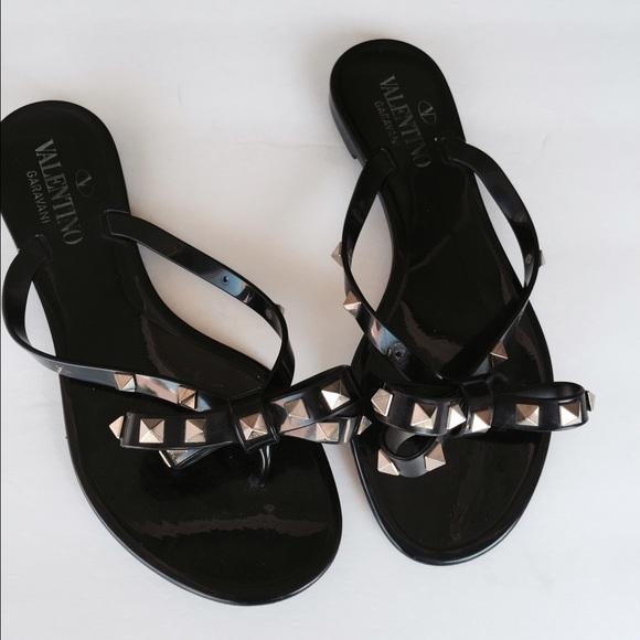 140176c59ec9 Valentino black jelly studded Sandals 6. M 57bb39298f0fc4cae7006ec6