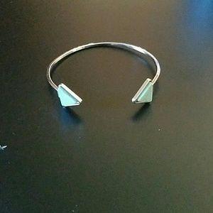 New boho turquoise triangle cuff bracelet