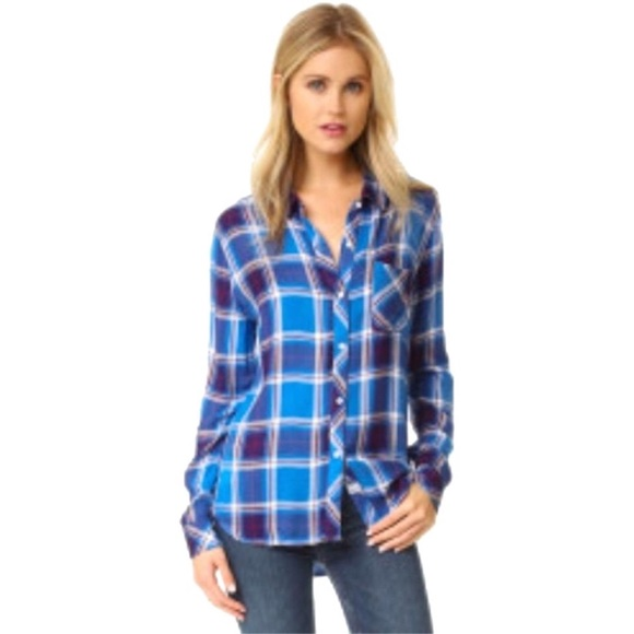 bd9a5630 Rails Tops | Blue Hunter Santorini Royal Button Down | Poshmark
