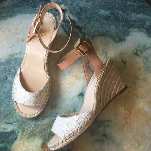 Vince Camuto Shoes - Vince Camuto Lace Espadrille Wedges