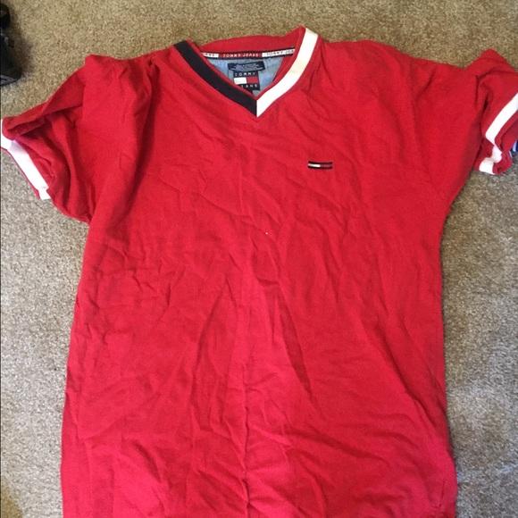0293b2d5 Tommy Hilfiger Shirts | Tommy Jeans Rare Vintage V Neck Shirt | Poshmark