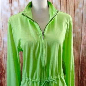 Lime green lightweight jacket