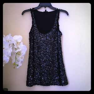 Express Tops - ⚡️Clearout⚡️Express Black Sequin Tank