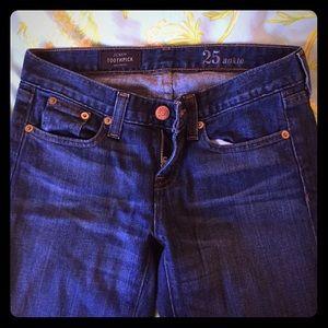 JCREW toothpick jeans size 25
