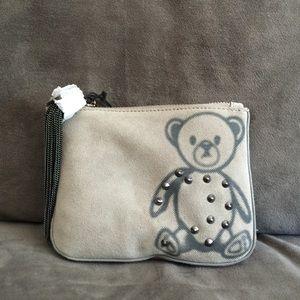 Monika Chiang Handbags - Sweet Slate Grey Suede Monika Chiang Clutch