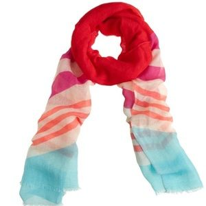 SALE! Nwt. J. Crew color block striped scarf