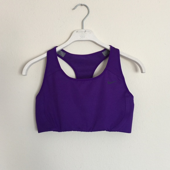 96587a66 Nike purple dri-fit sports bra small