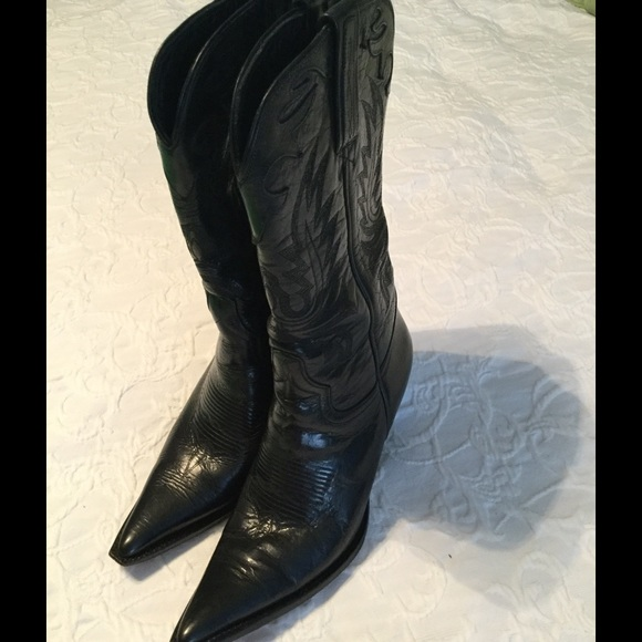 96035166bbb78 Charlie Rose Shoes - Cowboy boots-black leather