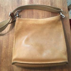 ❤️❤️❤️ final SALE!!Tan leather vintage coach bag