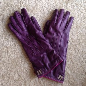 Coach Leather Cashmere-Lined Gloves