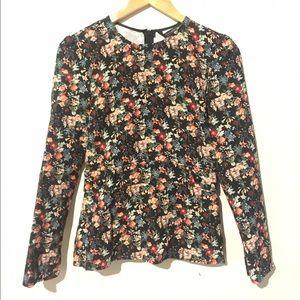 Zara long sleeved floral print top