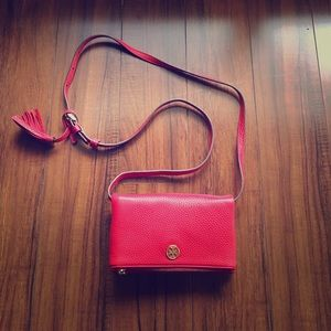 Tory Burch Handbags - Tory Burch Robinson Mini Pebbled Fold Over Purse