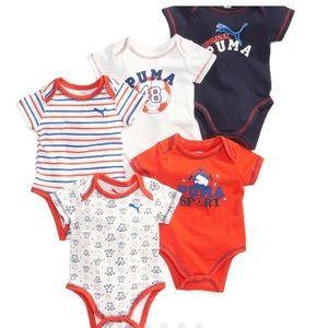 Puma Other - Baby boys 5 piece bodysuit