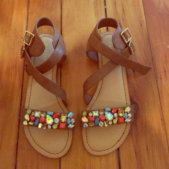 Madden Girl Jeweled Sandals