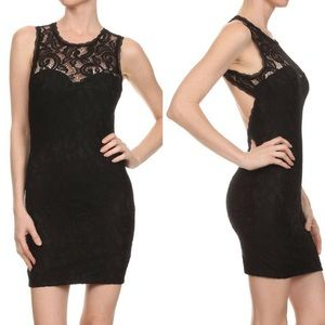 ‼️SALE‼️Fitted Lace Cutout Back Dress