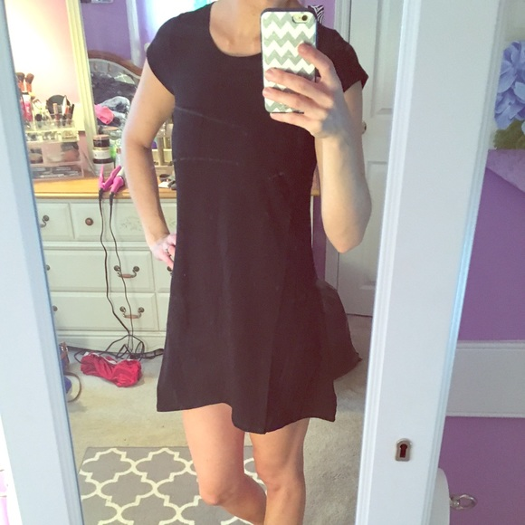 Charlotte Russe Dresses Black Flowy Dress Short Sleeve Poshmark