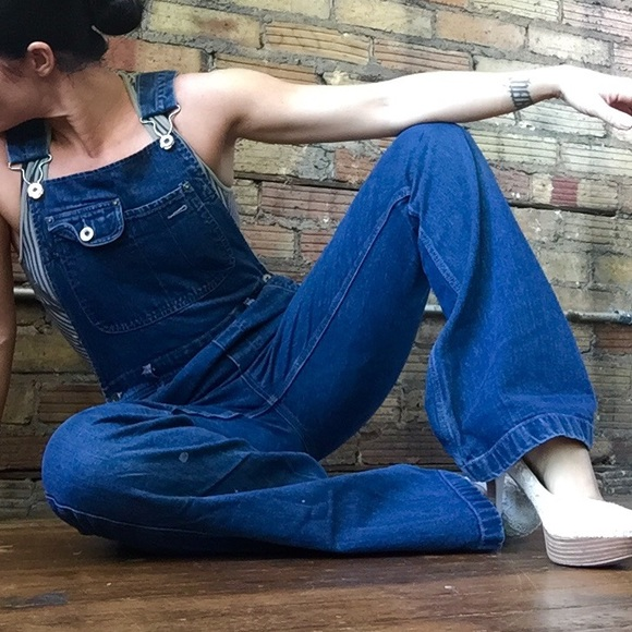 85% off Silver Jeans Denim - Silver Jeans Vintage Overalls FLARE ...