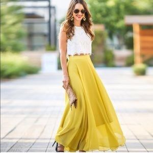Lucy paris Skirts - NWT Mustard yellow maxi from Morninglavender.com
