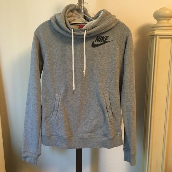 0978d374552e Nike Gray Cowl Neck Hoodie sweatshirt size Small. M 57bb642c6d64bc6872021fa0