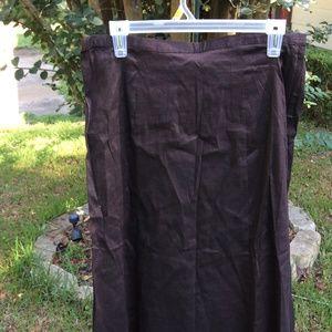 Kathleen Sommers Chocolate Skirt