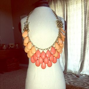 Orange & coral statement necklace necklace
