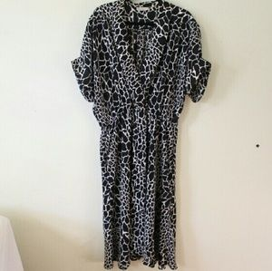 Vintage Dresses & Skirts - Vintage Animal Print Midi Dress