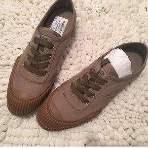 Prada Linea Rossa Shoes - NWT Rubber Cap Toe Gabardine Sneakers by PRADA