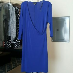 AB Studio Dresses & Skirts - Cobalt blue faux wrap dress!
